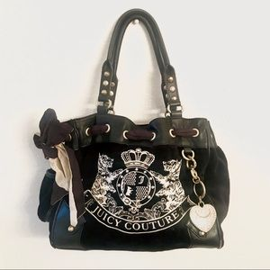 Juicy Couture Scottie Daydream Velour Tote HandBag